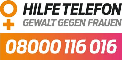 Logo des Hilfetelefon - Gewalt gegen Frauen